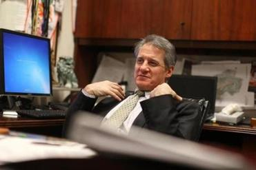 Mohegan Sun CEO Mitchell Etess, shown in his office.